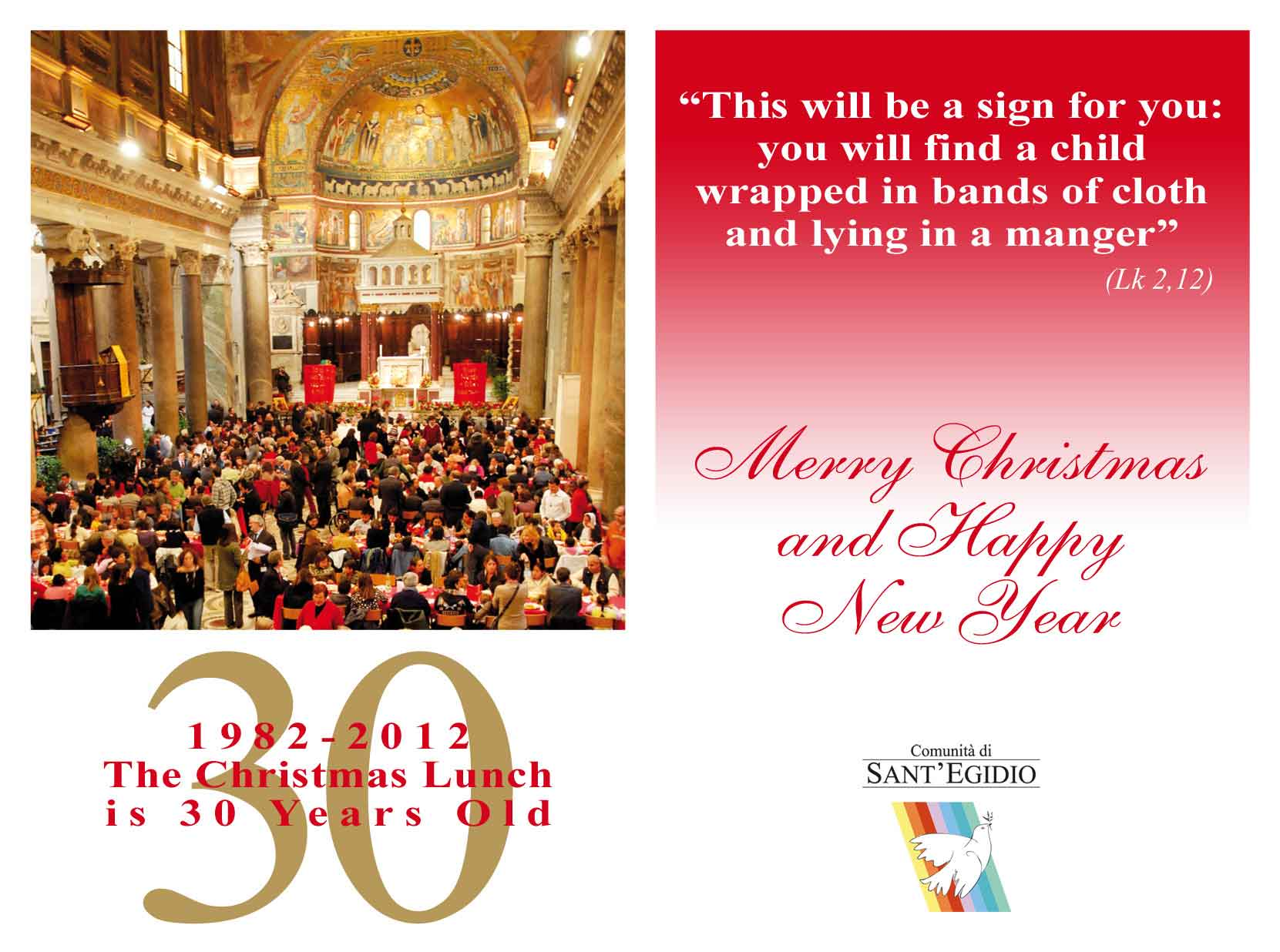 Christmas 2012 - Best wishes from the Community of Sant'Egidio