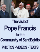 The visit of pope Francis to the Community of Sant'Egidio