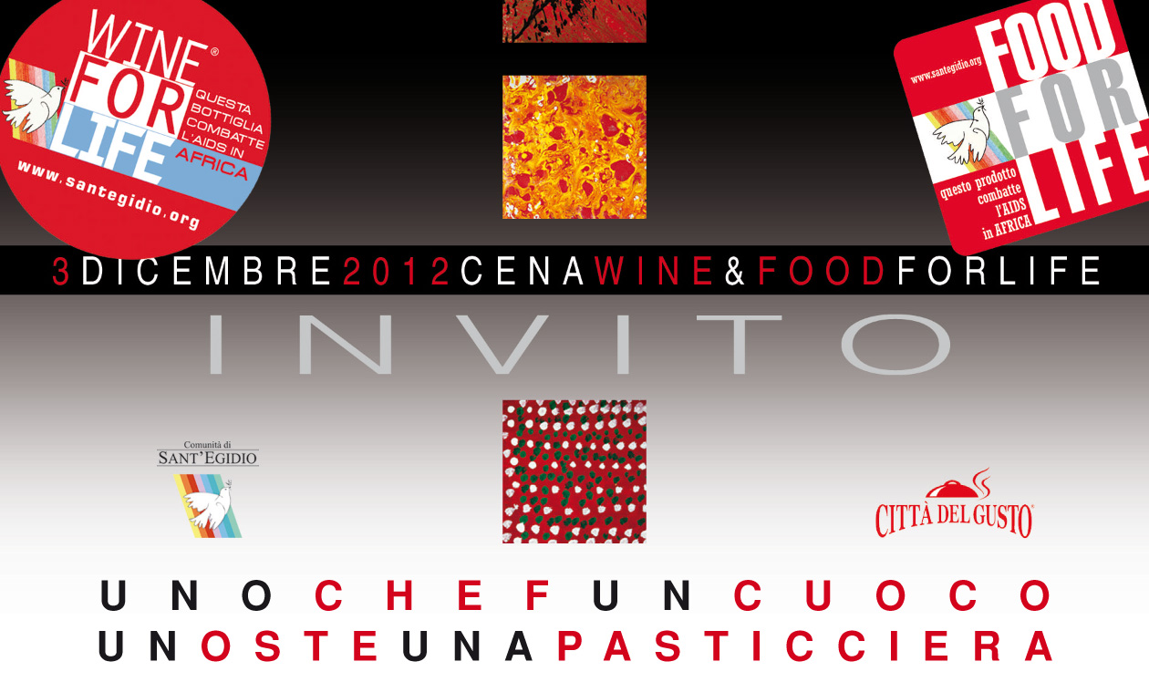 Comunita di Sant'Egidio , Wine for Life , nov. 2012