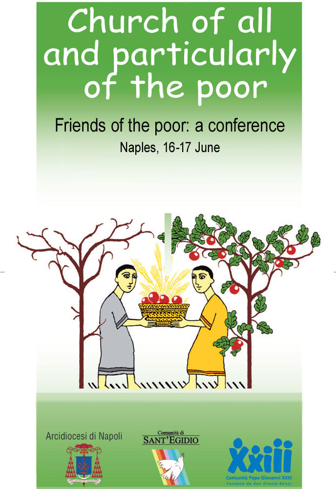 """Church for all and particularly the poor."" Friends of the poor in congress from all over Italy 16 and 17 June, from 9:30 am - LIVE ON WEB"