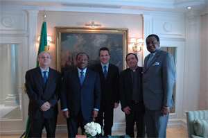 Meeting between the President of Gabon Mr. Ali Bongo Ondimba and the President of the Community of Sant'Egidio Marco Impagliazzo