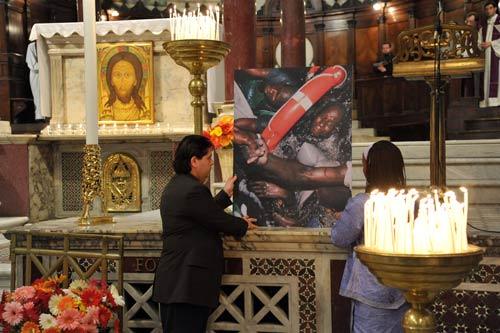 Preghiere in memoria delle vittime della tragedia di Lampedusa (2013)