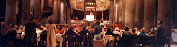Il Pranzo di Natale della Comunità di Sant'Egidio nel 1982