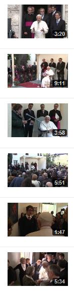 """I video della visita di Benedetto XVI alla Casa """"Viva Gli Anziani"""" della Comunità di Sant'Egidio"""
