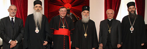 Serbian Patriarch Irinej received high guests from the Roman Catholic Church