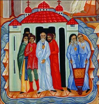 Icona dei Testimoni della Fede del XX Secolo, particolare -  Basilica di San Bartolomeo all'Isola Tiberina, Roma