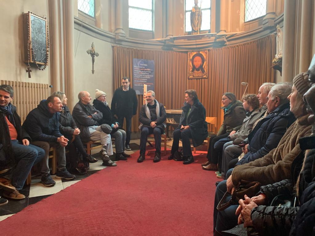Marco Impagliazzo visiting the Community of Sant'Egidio in Belgium in the places of solidarity and friendship