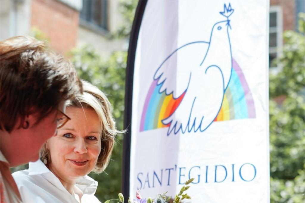 Kamiano turns 25: Queen Mathilde of Belgium visits the soup kitchen of Sant Egidio for the poor in Antwerp