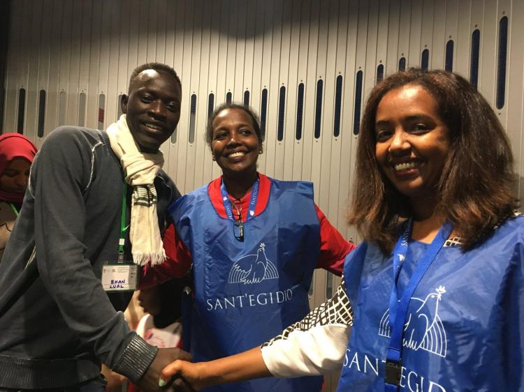 From Ethiopia a new corridor of hope arrived in Rome this morning