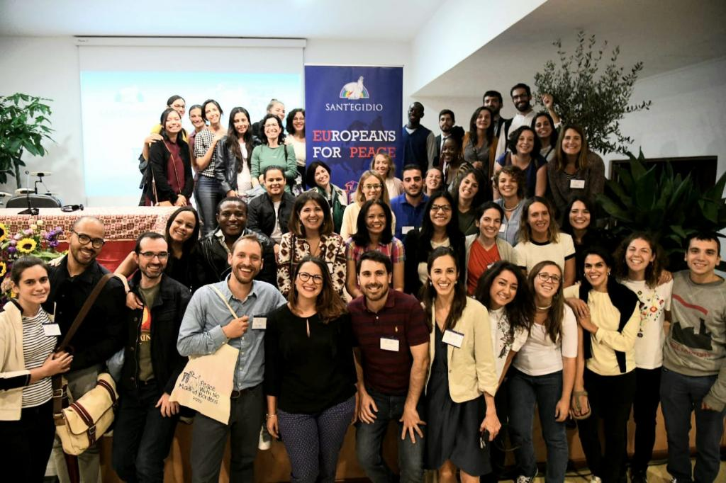 Europeans for Peace: young people of 15 European countries together in Madrid voor a 'Peace with No Borders'