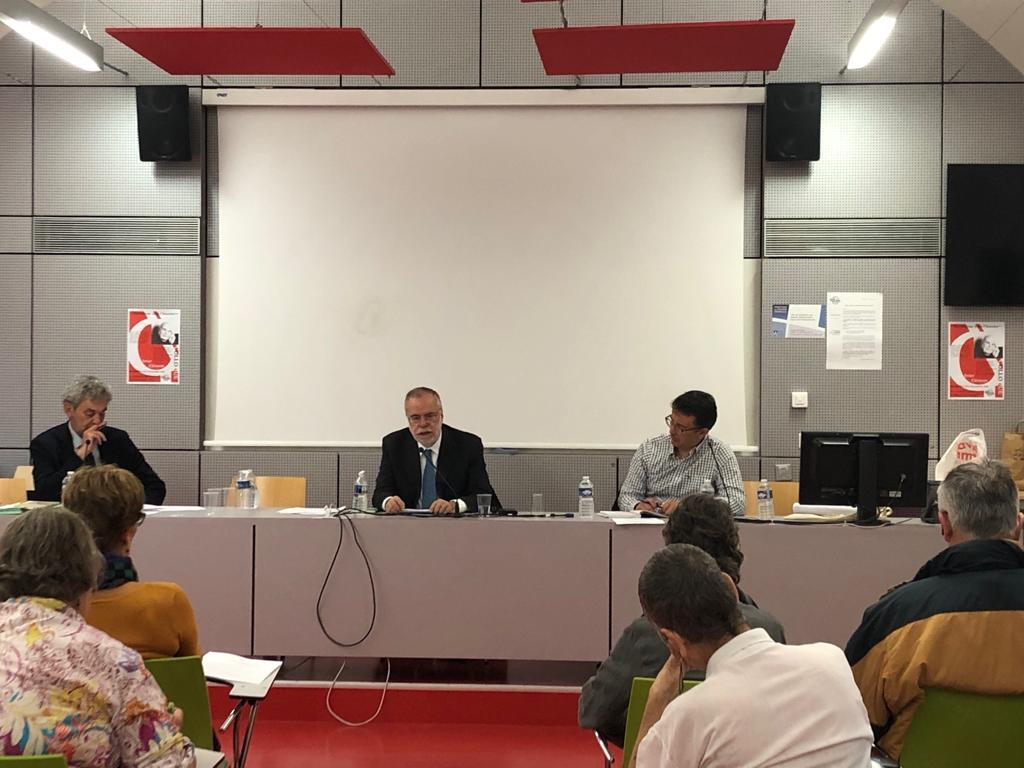 Andrea Riccardi intervenes in a colloquium on Olivier Clément and visits the tomb of Sant'Egidio, the Saint who has given his name to the Community