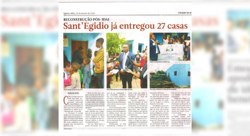 27 new houses for the elderly in Beira built by Sant'Egidio. The city returns to life.