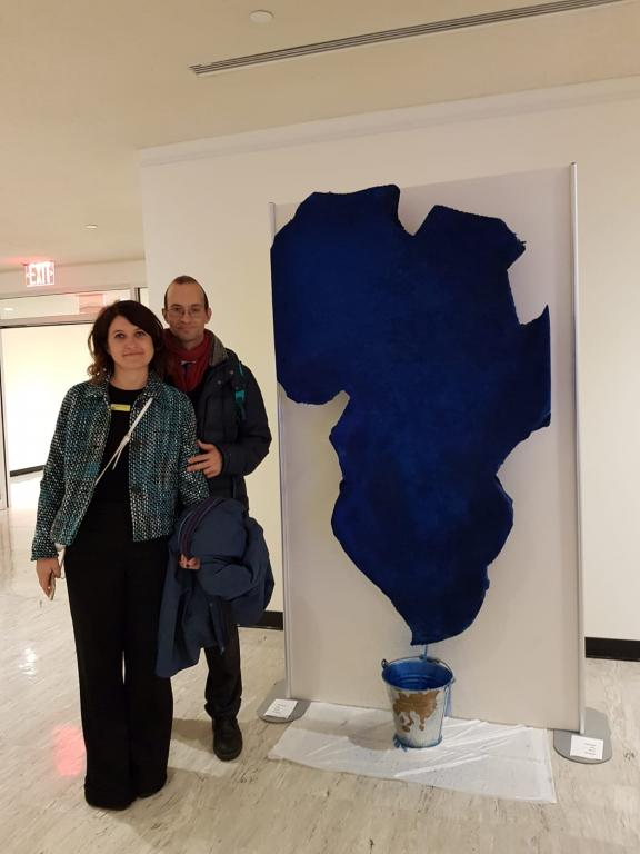 "The Exhibit ""the Art of Living Together"" ended yesterday at the United Nations. Next stop: Italian Consulate in New York"